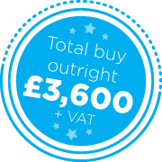 Total buy outright £3,600 + VAT