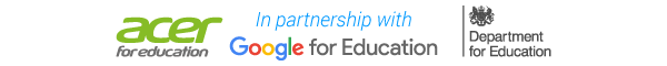 In partnership with Acer for Education, Google for Education and the DfE